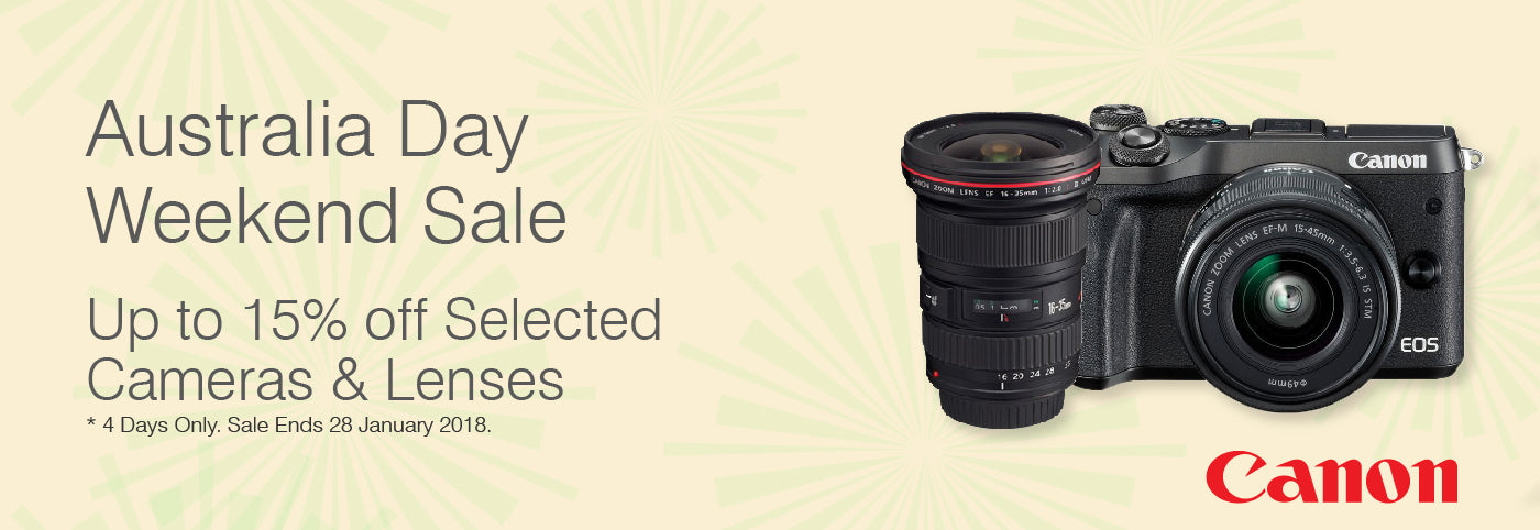 Canon Australia Day Weekend Celebration Sale - Up to 15% off Selected Cameras and Lenses