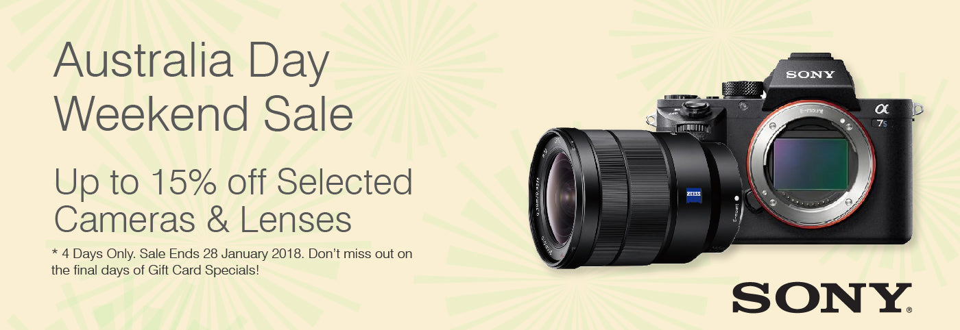 Sony Australia Day Weekend Celebration Sale - Up to 15% off Selected Cameras and Lenses