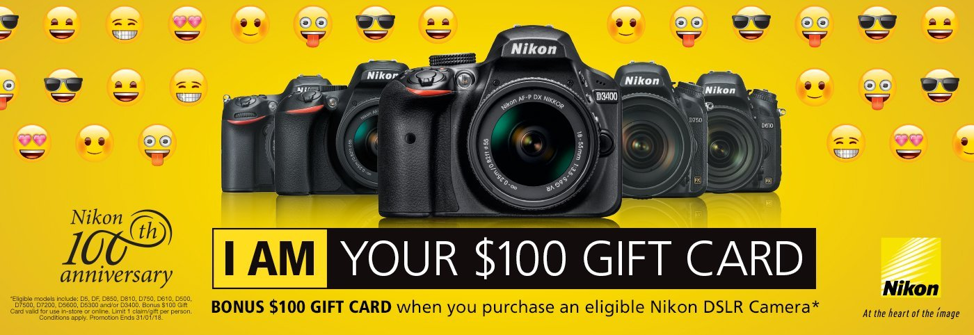 Nikon I AM Your $100 Gift Card
