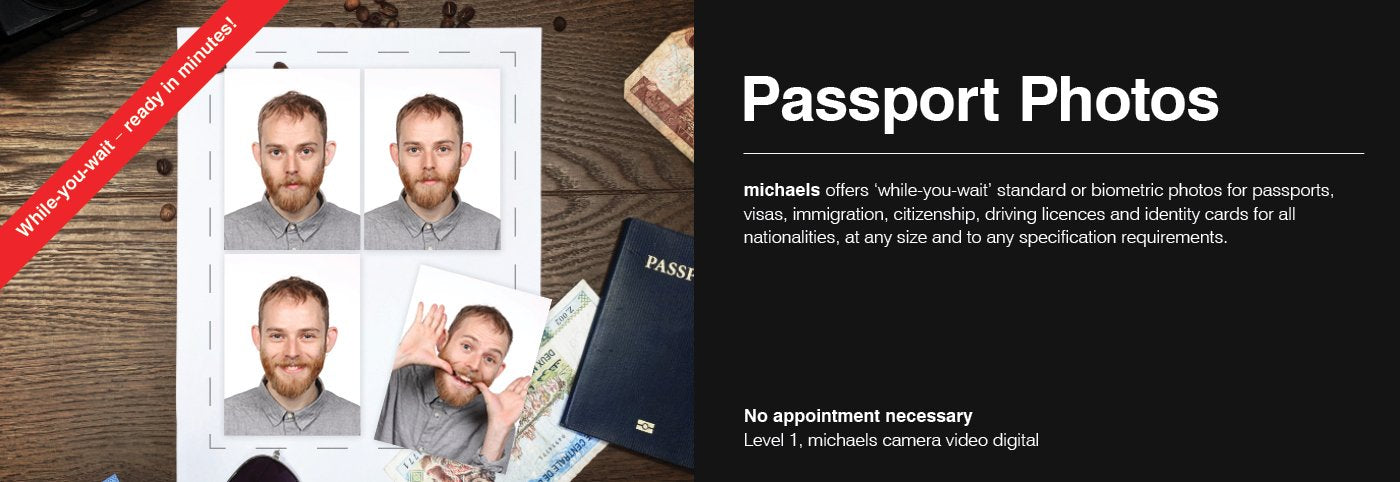 Passport Photos — While You Wait