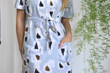 Agona Dress in Grey Platelets