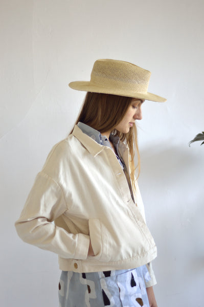 Delilah Canvas Jacket in Natural