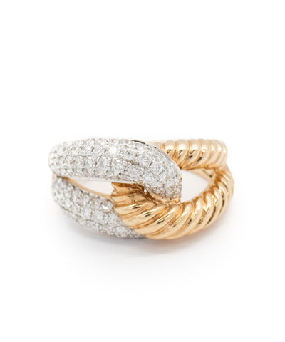 Ladies Rose Gold and Diamond Ring