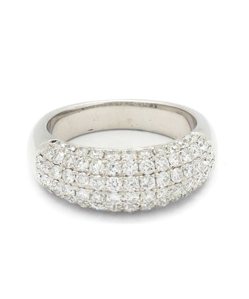 Diamond White Gold Pave Band