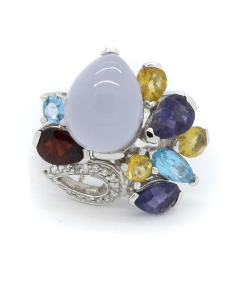Diamond and Multi Precious Stones Ring