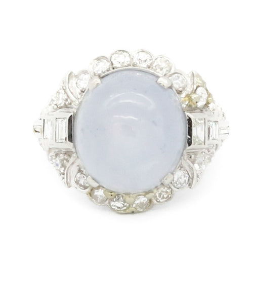 Diamond and Star Sapphire Ring