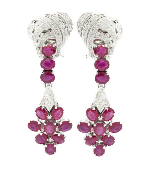 Diamond and Ruby Earring