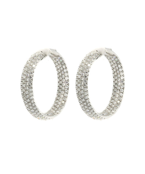 Diamond 10.31ct Earring