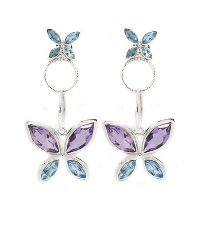 Amethyst and Blue Topaz Earrings