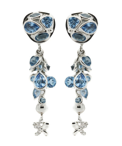 Blue Topaz Long Shape Earrings