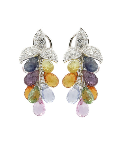 Diamond and Multi Colour Earrings