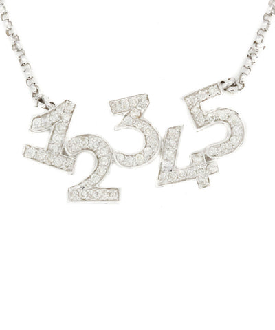 Diamond Numbers Necklace