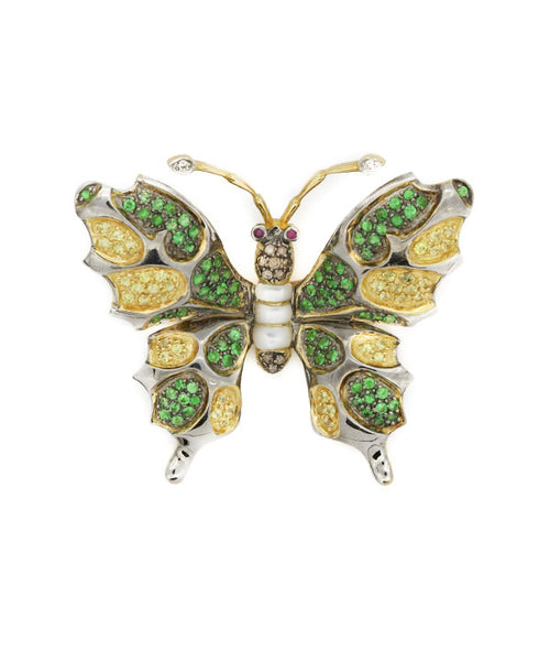 Butterfly Yellow Gold Brooch