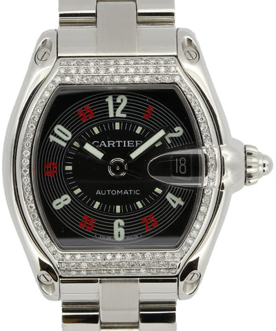 Cartier Mens Steinless Steel and Diamonds Watch
