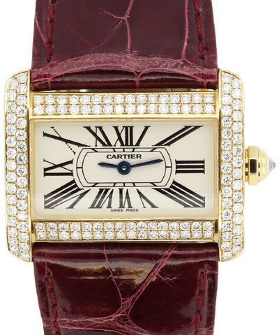 Cartier Ladies Yellow Gold and Diamonds Watch