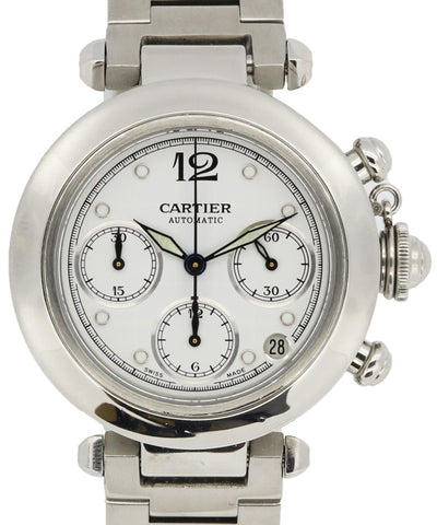 Cartier Ladies and Mens Stainless Steel Round Watch