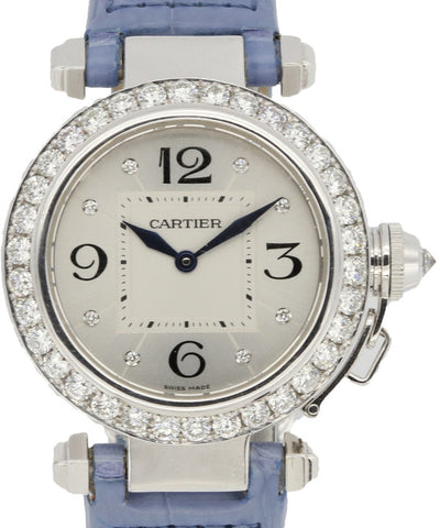 Cartier Ladies White Gold and Diamonds Watch