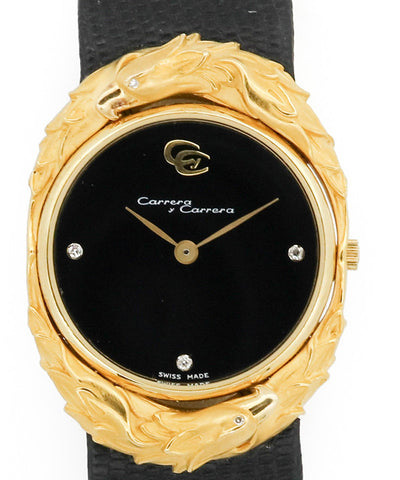 Carrera y Carrera Yellow Gold Watch