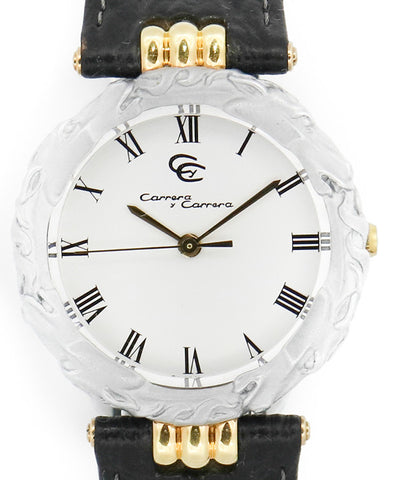 Carrera y Carrera Ladies White Watch
