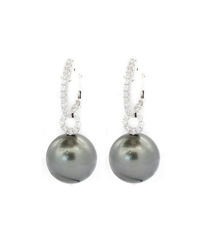 Pearl and Diamond Semi Precious Stones Earring