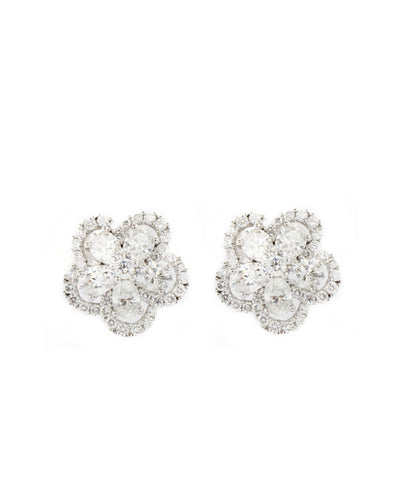 Diamond 4.00ct and White Gold Earring