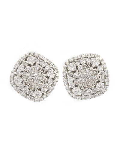 Diamond 3,00ct and White Gold Earring