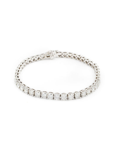 Round Brilliant Cut Diamond Bracelet