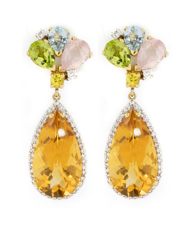 Topaz and Diamond Earring