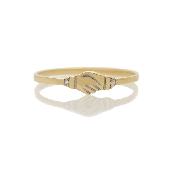 Clasped Hands / Fede Gimmel Ring