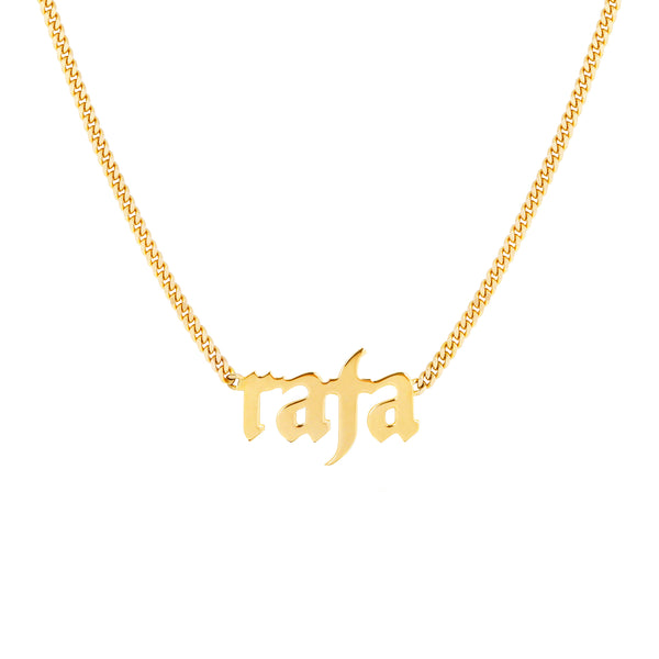 Classic Gothic Initial Nameplate Necklace