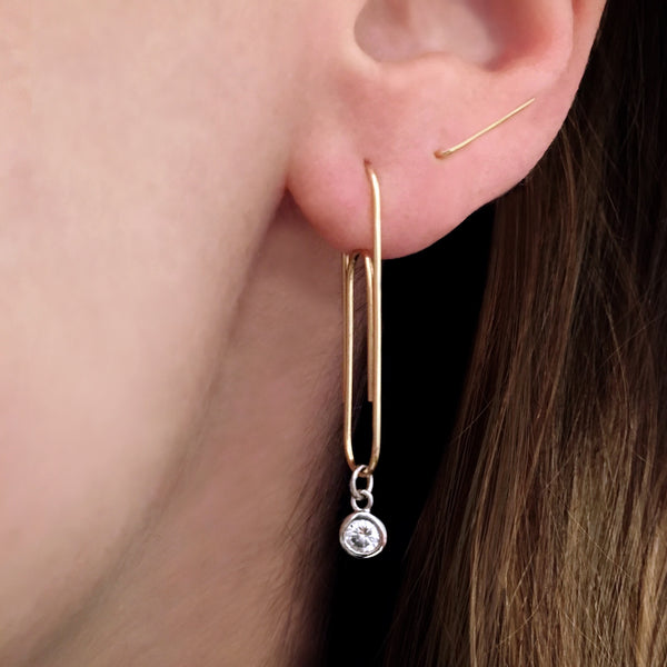 Classic Staple Earring / Ear Climber
