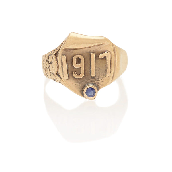 Edwardian Sapphire Date Ring