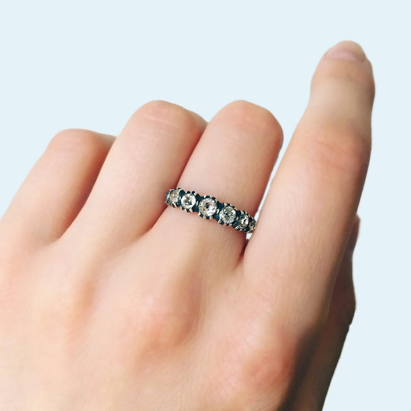 Georgian Paste Half-Hoop Eternity Band