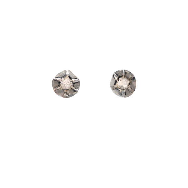 Georgian Foiled Diamond Earrings