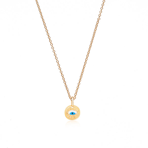 Gold + Enamel Evil Eye