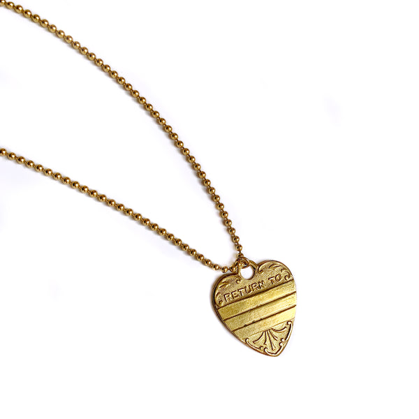 """Return to Me"" Heart Pendant"