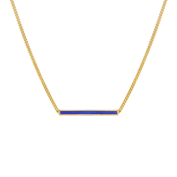 Petite Lapis Bar Necklace