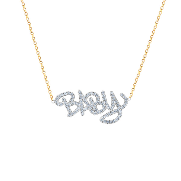Louison x Lions Pavé Diamond Nameplate Necklace