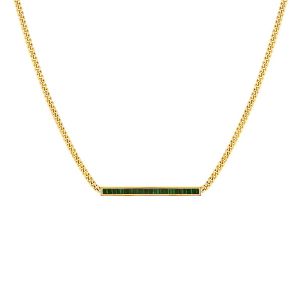 Classic Malachite Bar Necklace