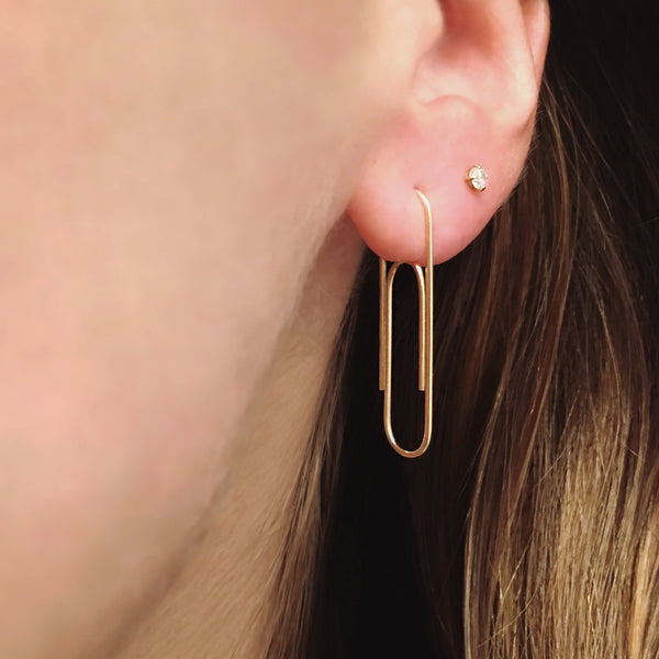 Classic Paper Clip Earring