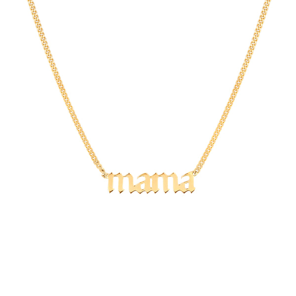Petite Gothic Initial Nameplate Necklace