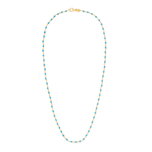 Turquoise Rosary Link Necklace