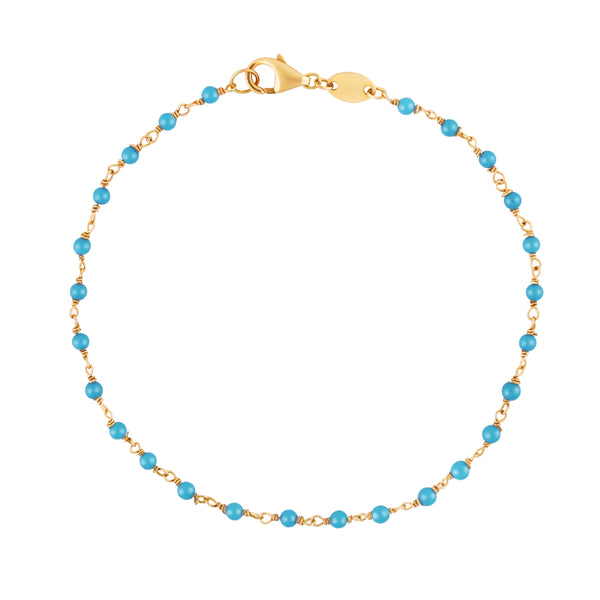 Turquoise Rosary Link Bracelet