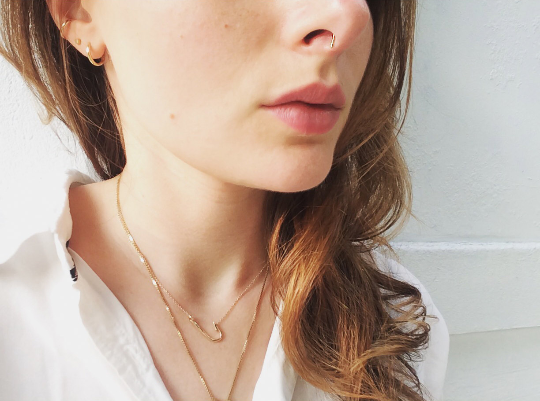 Mid Century Tiffany + Co. Fish Hook Necklace