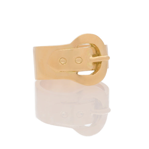 Simple Gold Buckle Ring