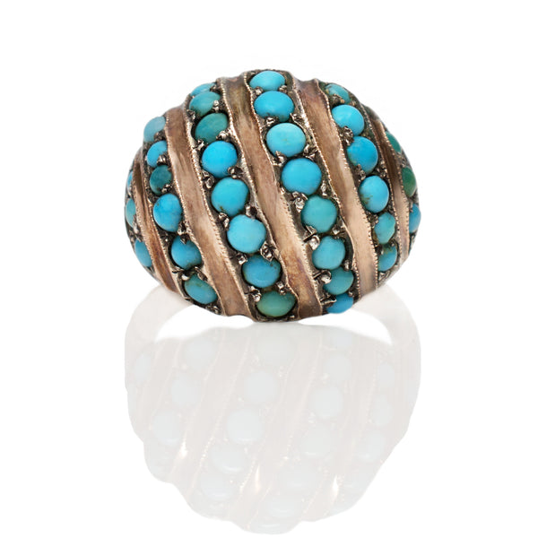 Victorian Turquoise Dome Ring
