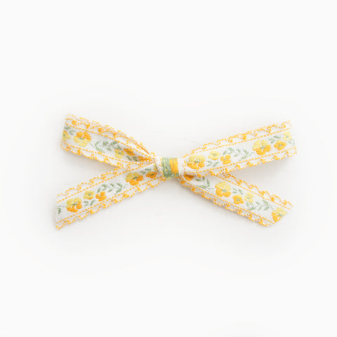 Clare - Yellow Jacquard
