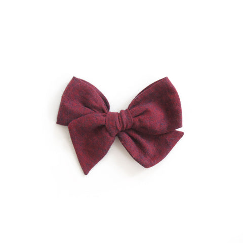 Mini Harlow - Burgundy Linen