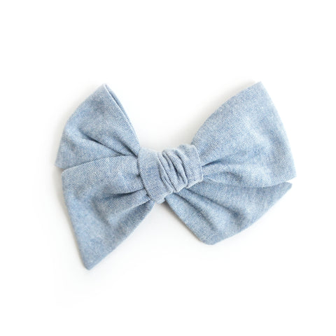 Denim Chambray Bow / Bow Tie