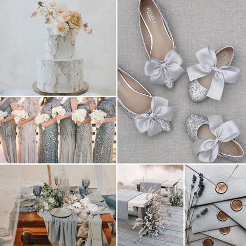 Silver Holiday Wedding